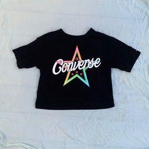 Converse crop top